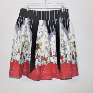 DOWNEAST BASICS birds/floral skirt SMALL